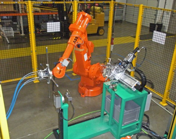 Robotics used to produce ARC's proprietary catalysts.