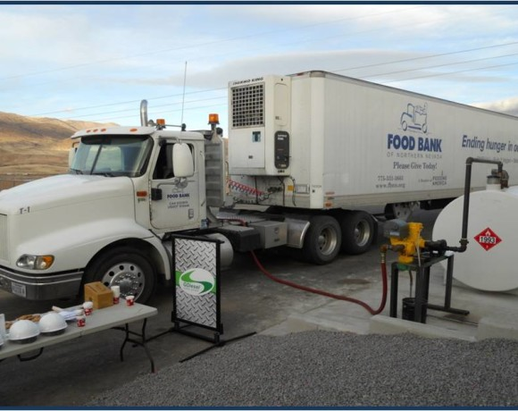ARC has donated its clean alternative GDiesel<sup>®</sup> fuel to worthy community charities such as the Food Bank of Northern Nevada.
