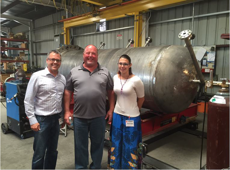 Pictured above is ARC's Managing Partner, Mr. Peter Gunnerman (left), Owner of Stewart Tool based in Rancho Cordova, Mr. Mark Stewart (center), and ARC's Manager of Strategic Projects, Ms. Kylee Bozarth (right).