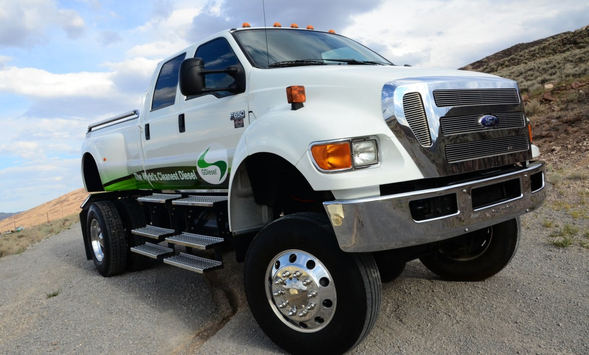 While a Ford F-650 is normally used for commercial duty, this tricked-out truck is stylish enough for parade duty, too.