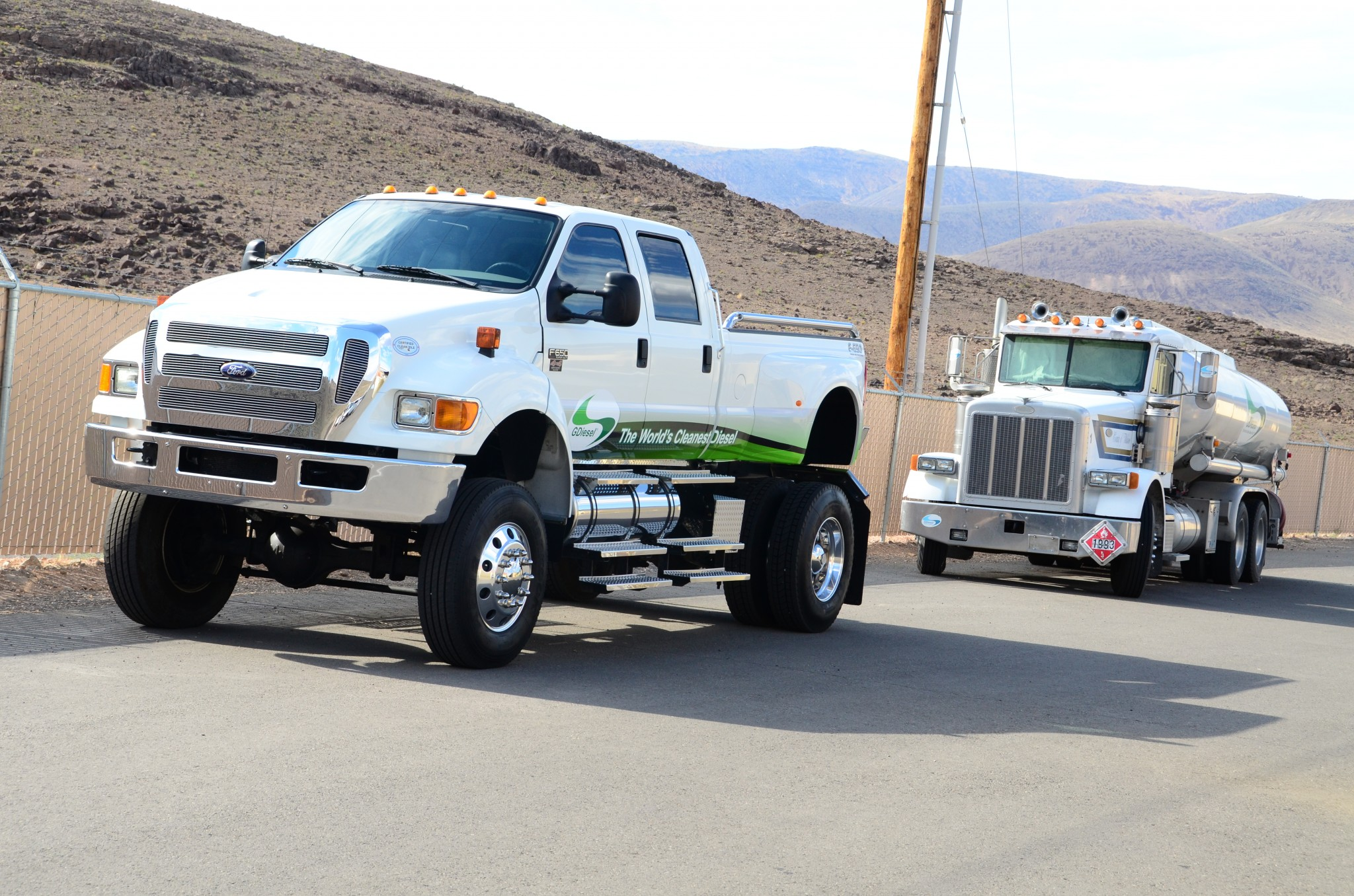 Note the size comparison between the F-650 and the GDiesel oil tanker rig.